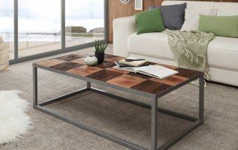Konferenční stolek BINTO II - kombinace mangového dřeva a dřeva postaršeného
