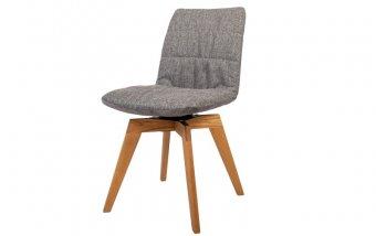 Jídelní židle BRUNO otočná s dubovou podnoží
