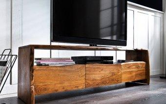 Televizní stolek z masivu BUGRI akát/lak přírodní