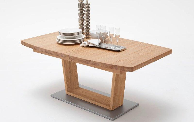 Rozkládací jídelní stůl z dubového masivu CANTANIA B dub divoký
