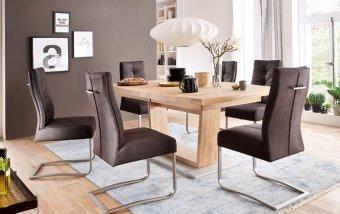 Jídelní set pro 6 osob - stůl CANTANIA B + židle SALVA