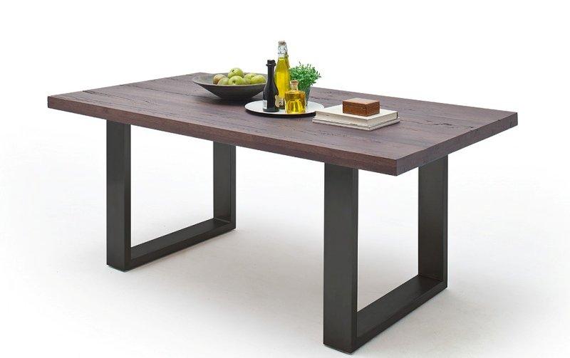 Jídelní stůl CASTELLO dub zastaralý/lak antracit