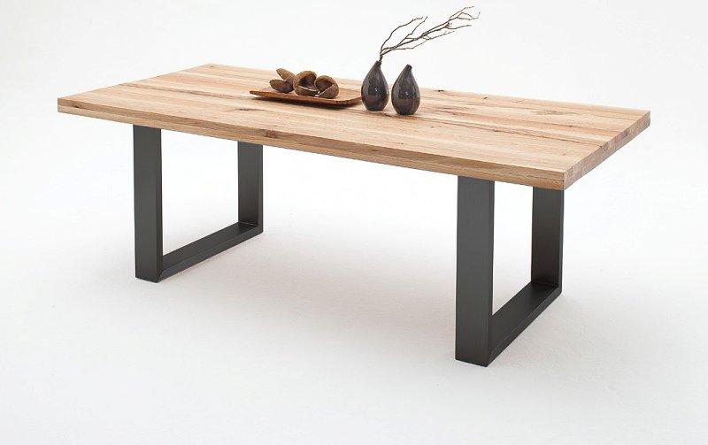 Jídelní stůl CASTELLO dub divoký přírodní/lak antracit