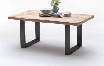 Jídelní stůl CASTELLO dub bělený/lak antracit
