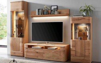 Nábytek do obývacího pokoje CARORA dub bělený olejovaný