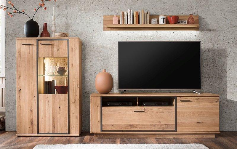 Nábytek do obývacího pokoje CAMPINAS IV dub sukatý bělený