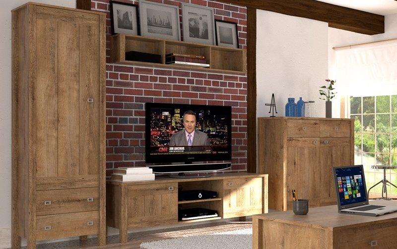 Nábytek do obývacího pokoje FARM II dub Lefkas