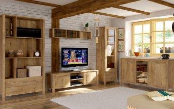 Nábytek do obývacího pokoje FARM III dub Lefkas