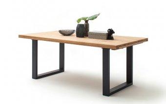 Rozkládací jídelní stůl z masivu DAYTON dub divoký/lak antracit