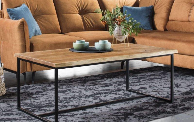 Designový dubový konferenční stolek MALIBU dub sukatý 120x65