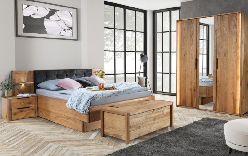 Dubový nábytek z masivu do ložnice DENVER 2 dub přírodní olejovaný