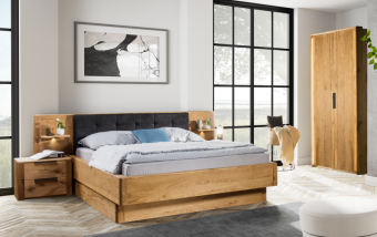 Dubový nábytek z masivu do ložnice DENVER dub přírodní olejovaný