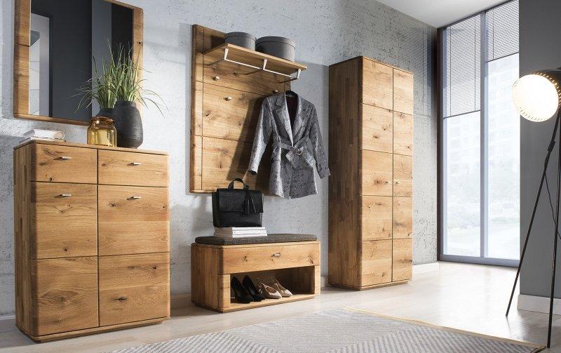 Dubový nábytek z masivu do předsíně DENVER GARDEROBA dub přírodní olejovaný