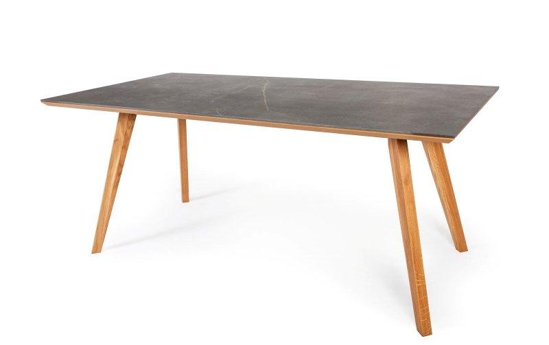 Jídelní stůl z masivu DUBLIN dub přírodní/kámen