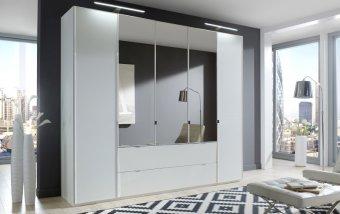 Šatní skříň se zrcadlem EASTSIDE alpská bílá