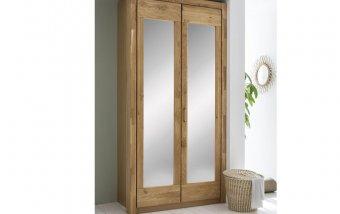 Šatní skříň 2D se zrcadly - RIGA dub sukatý