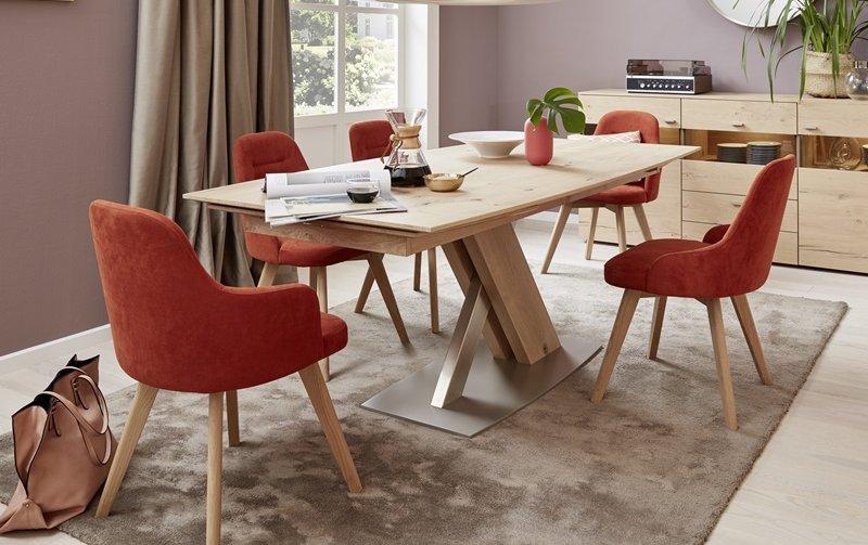 Luxusní jídelní set pro 5 osob - rozkládací stůl + židle KIRA