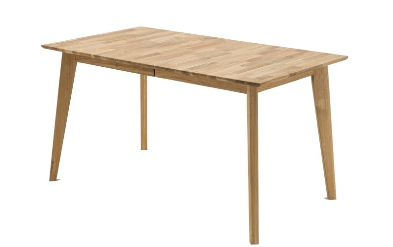 Rozkládací jídelní stůl z přírodního dubového masivu EYSKE