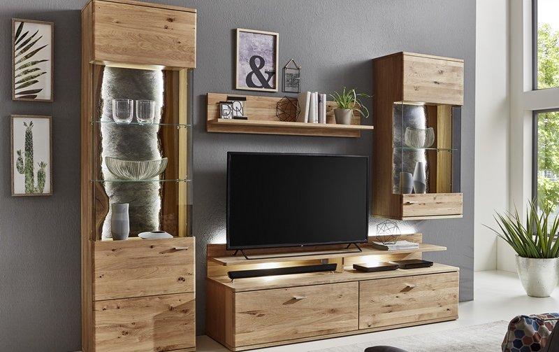 Nábytek do obývacího pokoje ZANO dub sukatý bělený