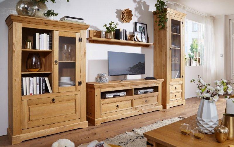 Nábytek do obývacího pokoje ve venkovském stylu ARRE borovice masiv/barva dub