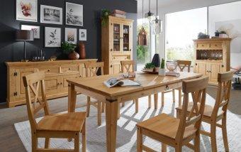 Nábytek do jídelny ve venkovském stylu ARRE borovice masiv/barva dub