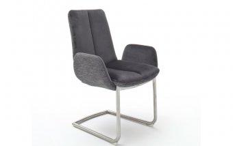 Židle jídelní GRIGOR s područkami šedá