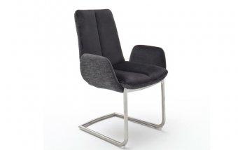 Židle jídelní GRIGOR s područkami černá