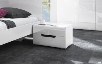 Noční stolek HEKTOR bílá/bílý lesk