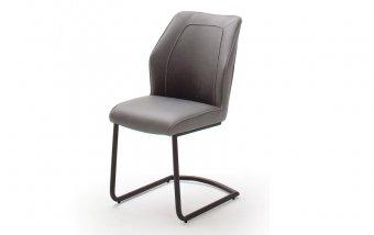 Židle jídelní ABERDEEN ekokůže/šedá