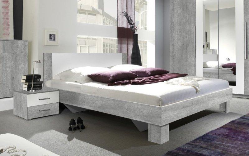 Postel s nočními stolky VERA 160x200 beton colorado
