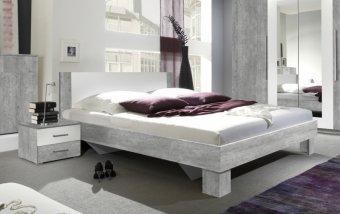 Postel s nočními stolky VERA 180x200 beton colorado