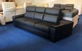 VÝPRODEJ: Kožená rozkládací sedačka s polohovatelnými opěráky GRAND VARIO 2