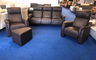 VÝPRODEJ: Kožená sedací souprava HOME CINEMA