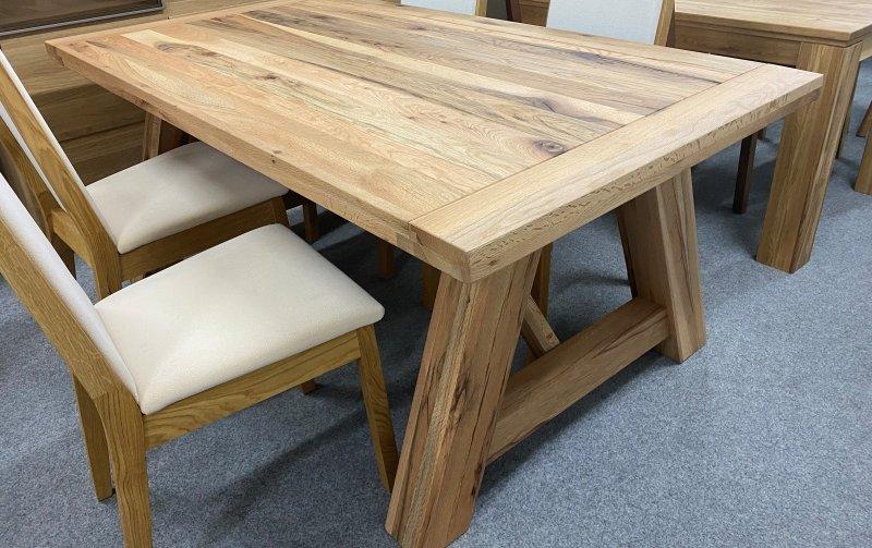 VÝPRODEJ: Jídelní stůl BRISTOL dub divoký 180 x 100 cm