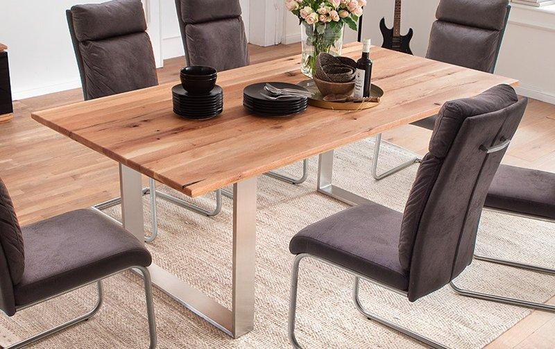Jídelní stůl z masivu JESOLO dub burgundský