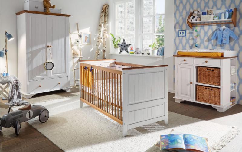 Dětský pokoj pro miminko masiv JULIA bílý