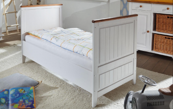 Dětská postel 140x70 z masivu JULIA borovice bílá