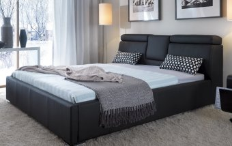 VÝPRODEJ: Luxusní kožená postel TALIA