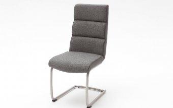 Židle jídelní KAMALA 1 šedá/ekokůže