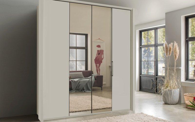 Luxusní skříň se zrcadlem KANSAS Champagne