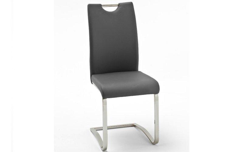 Židle jídelní KOELN ekokůže šedá