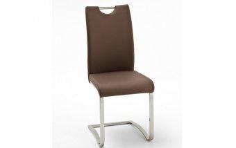Židle jídelní KOELN ekokůže hnědá
