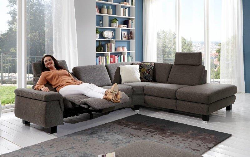 Rohová sedací souprava KONZEPT s funkcí relax