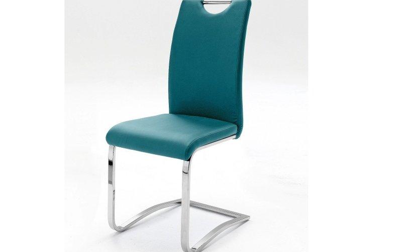 Židle jídelní KOELN ekokůže petrol