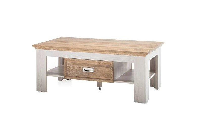 Konferenční stolek CLEVELAND bílá/dub divoký
