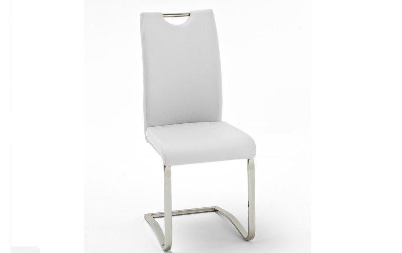 Židle jídelní KOELN ekokůže bílá