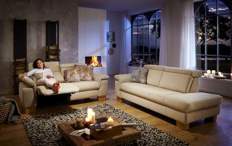 Sedací souprava LAVA 2 2,5-sed s funkcí relax +otoman