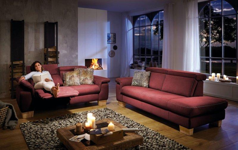 Sedací souprava LAVA 3 2,5-sed s funkcí relax +otoman