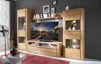 Nábytek do obývacího pokoje LEEDS I dub přírodní olejovaný