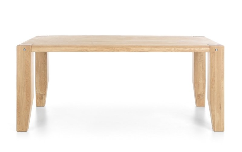 Jídelní stůl z masivu LOFT přírodní dub 160x90 typ 52